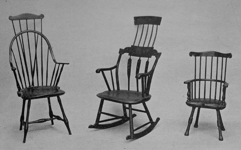 At The Left, New England Loop Back Armchair, With Comb Back Extension, Back  Braces, And Bamboo Turning; Center, A Very Late And Awkward Development Of  The ...