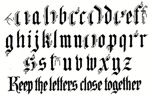 Gothic Writing