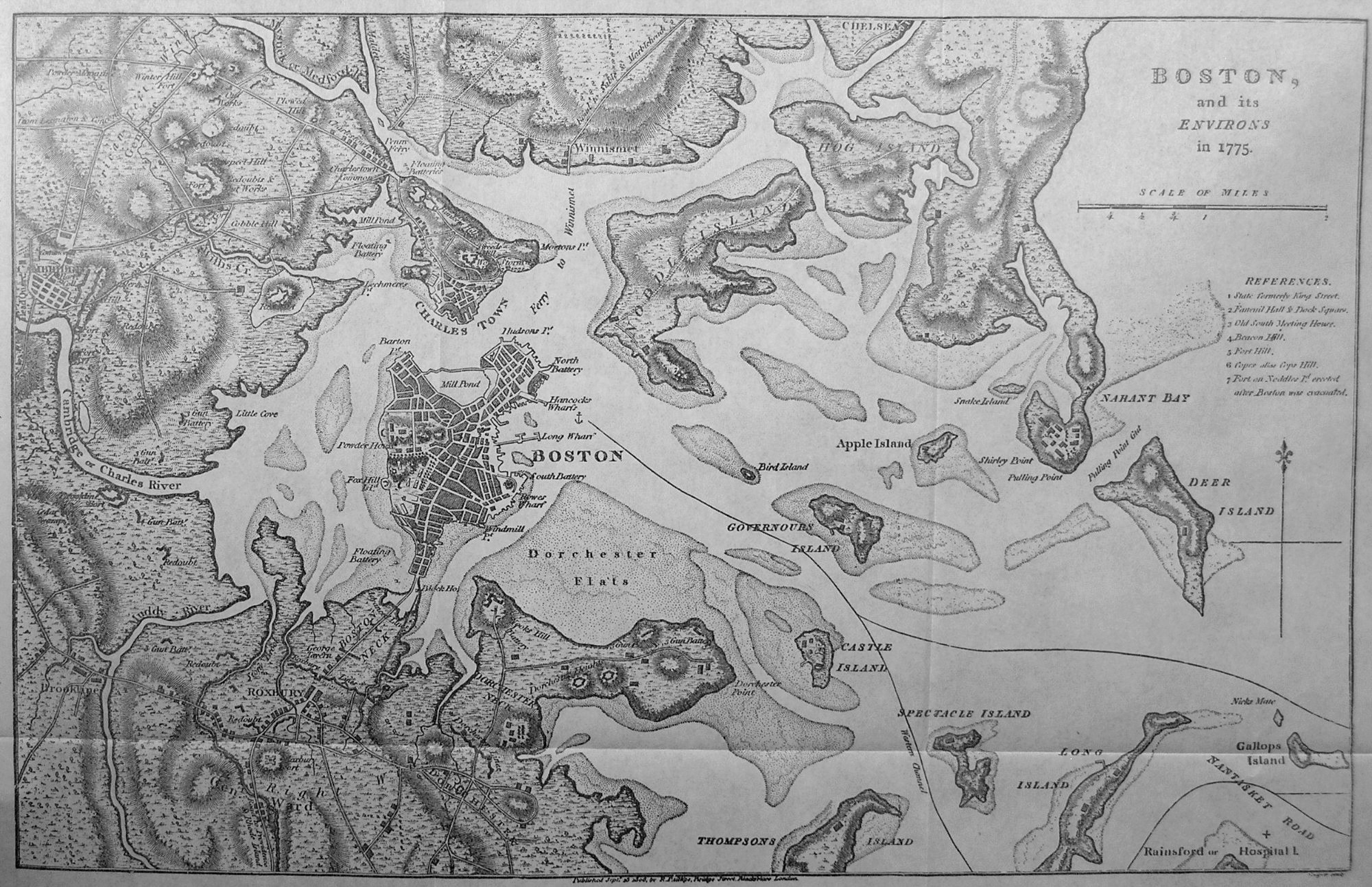 Maps Supporting Guides To The American Revolution By Norman Desmarais - Map of boston vicinity
