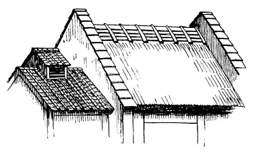 Roof Sketch Amp Ridge Of Shingle Roof In Musashi Sc 1 St